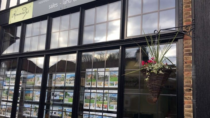 Kennedys' Estate Agent Window Installation